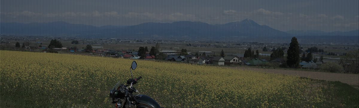 会津盆地の西側から磐梯山を見る